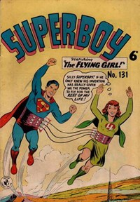 Superboy (Colour Comics, 1950 series) #131 — The Flying Girl