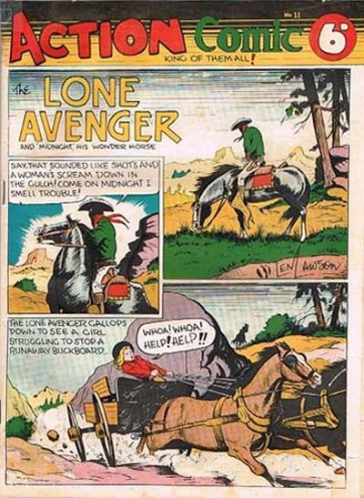 Action Comic (Peter Huston, 1946 series) #11 ([August 1947?])