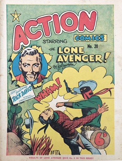 Action Comic (Leisure Productions, 1948 series) #20 ([1948?]) —Action Comics Starring The Lone Avenger!
