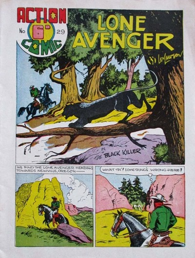 Action Comic (Leisure Productions, 1948 series) #29 ([1949?]) —The Lone Avenger
