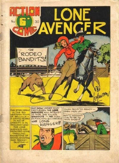 Action Comic (Leisure Productions, 1948 series) #30 ([1949?]) —Lone Avenger