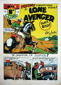 Action Comic (HJ Edwards, 1949? series) #46 ([July 1950?]) —The Lone Avenger