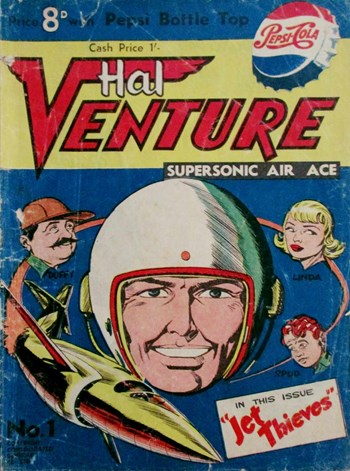 Jet Thieves—Hal Venture Supersonic Air Ace (Consolidated Beverage Co., 1958? series) #1  ([1958?])