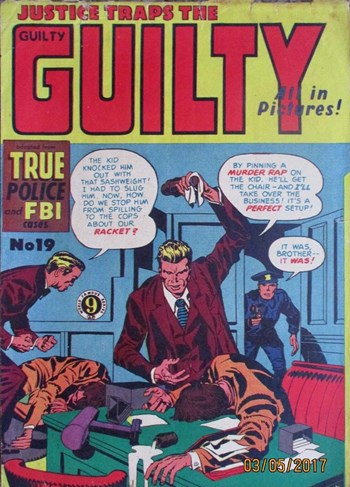 Justice Traps the Guilty (Atlas, 1953? series) #19  ([1954?])