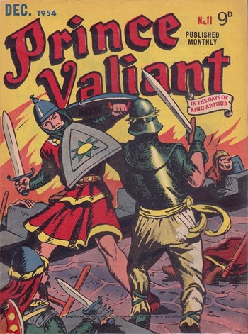 Prince Valiant in the Days of King Arthur (Associated Newspapers, 1954 series) #11  (December 1954)