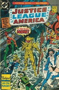 Justice League of America (Federal, 1983 series) #11 — The War Begins-- Now!