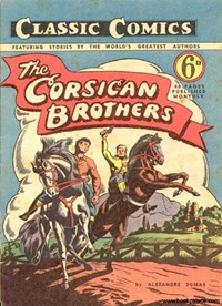 Classic Comics (Ayers & James, 1947 series) #4 ([October 1947?]) —The Corsican Brothers