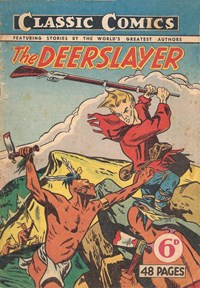 Classic Comics (Ayers & James, 1947 series) #8 ([February 1948?]) —The Deerslayer