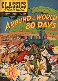 Classics Illustrated (Ayers & James, 1949 series) #41 ([November 1950?]) —Around the World in 80 Days