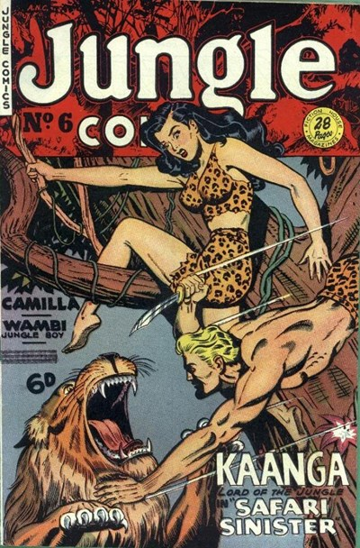 Jungle Comics (HJ Edwards, 1950? series) #6 ([March 1951?])