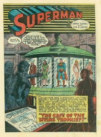 Superman All Color Comic (KGM, 1947 series) #1 — The Case of the Living Trophies (page 1)