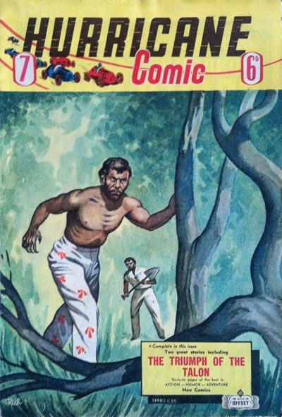Hurricane Comic (OPC, 1946 series) #7 [C35] (1947) ([1947?])