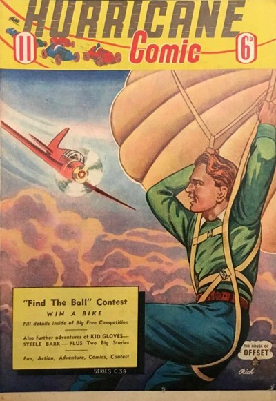 Hurricane Comic (OPC, 1946 series) #11 [C39] (September 1947) ([September 1947?])