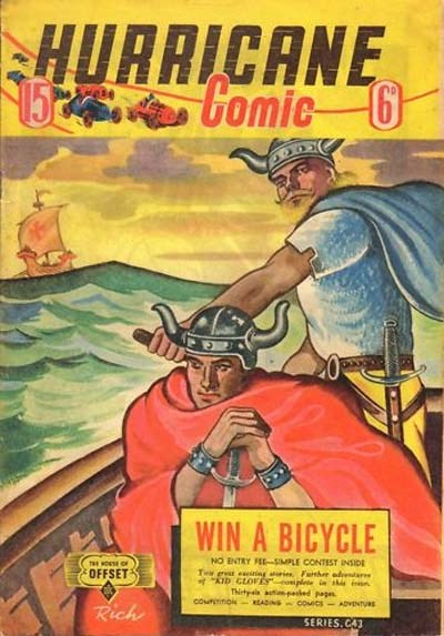 Hurricane Comic (OPC, 1946 series) #15 [C43] (January 1948) ([January 1948?])