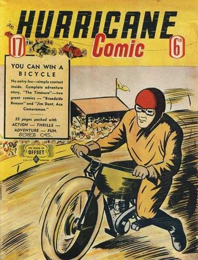 Hurricane Comic (OPC, 1946 series) #17 [C45] (March 1948) ([March 1948?])
