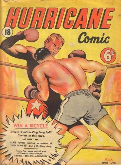 Hurricane Comic (OPC, 1946 series) #18 [C46] (April 1948) ([April 1948?])