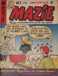 Comic Hits (Red Circle, 1952 series) #26 (October 1954) —Mazie