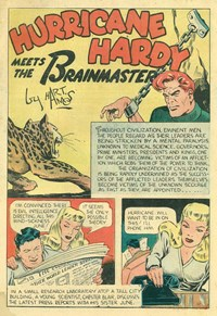 A Climax Color Comic (KGM, 1948 series) #8 — Hurricane Hardy Meets the Brainmaster (page 1)