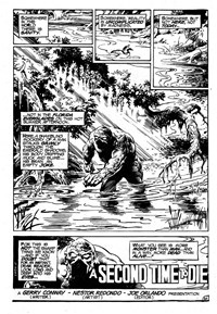 Swamp Monster (Murray, 1980?) #Second Release — A Second Time to Die (page 1)