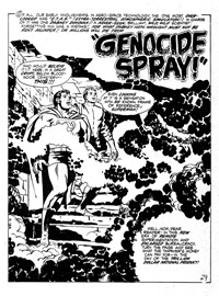 Mighty Comic (KG Murray, 1973 series) #98 — Genocide Spray (page 1)