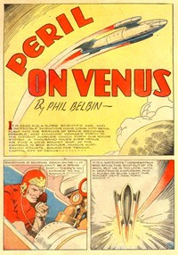 A Climax Color Comic (KGM, 1948 series) #9 — Peril on Venus (page 1)