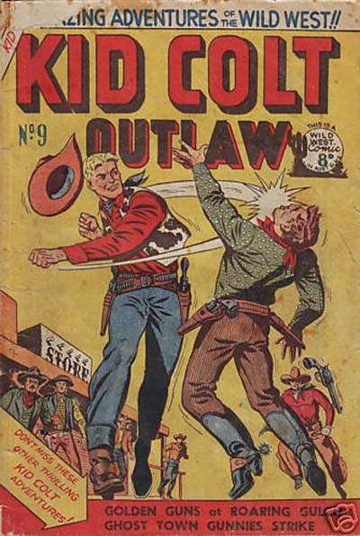 Kid Colt Outlaw (Transport, 1952 series) #9 ([October 1952?])
