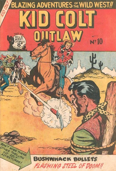 Kid Colt Outlaw (Transport, 1952 series) #10 ([November 1952?])