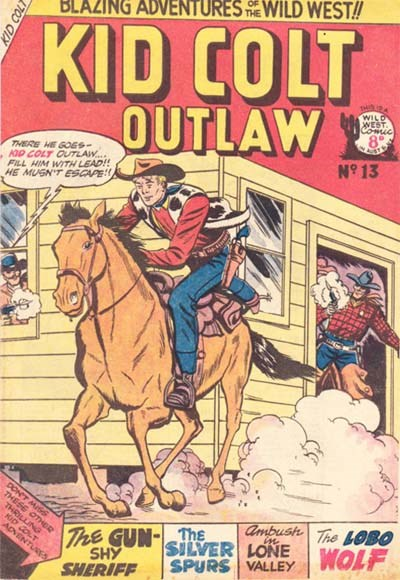 Kid Colt Outlaw (Transport, 1952 series) #13 ([February 1953?])