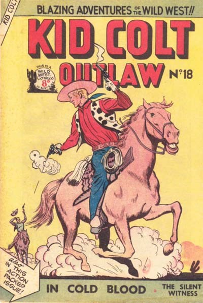 Kid Colt Outlaw (Transport, 1952 series) #18 ([July 1953?])