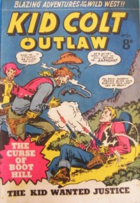 Kid Colt Outlaw (Transport, 1952 series) #21 — The Curse of Boot Hill