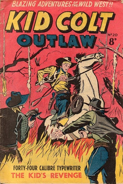 Kid Colt Outlaw (Transport, 1952 series) #20 ([September 1953?])