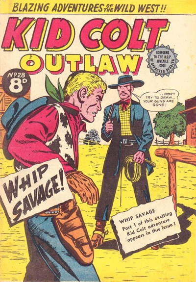 Kid Colt Outlaw (Transport, 1952 series) #28 ([1954?])