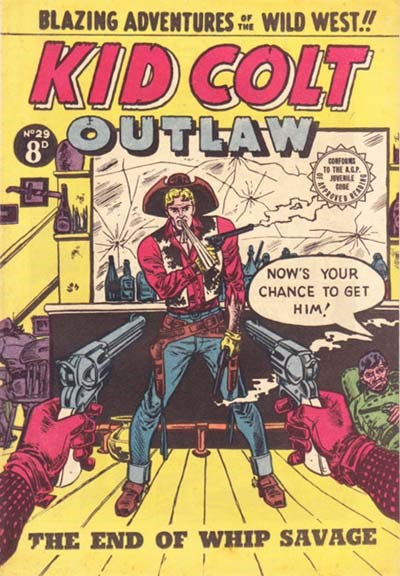 Kid Colt Outlaw (Transport, 1952 series) #29 ([June 1954?])