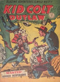 Kid Colt Outlaw (Transport, 1952 series) #34 — Wanted! Hooded Desperados