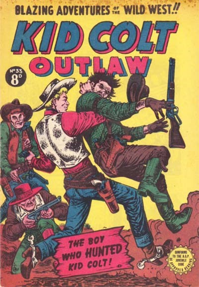 Kid Colt Outlaw (Transport, 1952 series) #33 ([October 1954?])