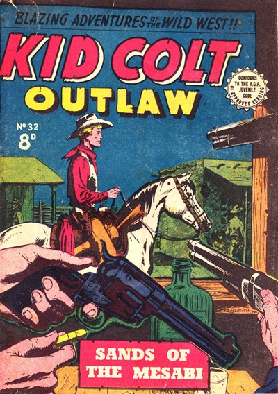 Kid Colt Outlaw (Transport, 1952 series) #32 ([September 1954?])