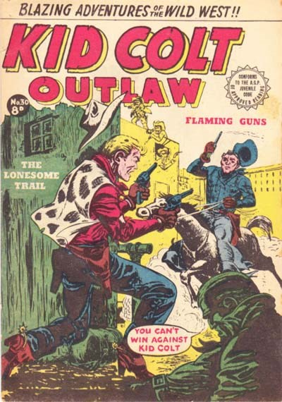 Kid Colt Outlaw (Transport, 1952 series) #30 ([July 1954?])