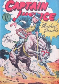 Captain Justice (Calvert, 1955 series) #9 — Masked Double