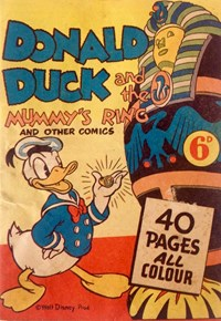 Donald Duck and the Mummy's Ring (Ayers & James, 1944? series)  ([1944?]) —Donald Duck and the Mummy's Ring