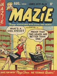 Comic Hits (Red Circle, 1952 series) #24 (August 1954) —Mazie