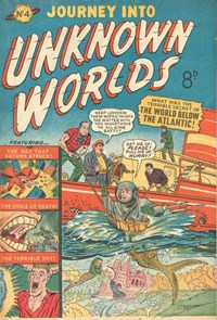 Journey into Unknown Worlds (Jubilee, 1953? series) #4 — The World Below the Atlantic!