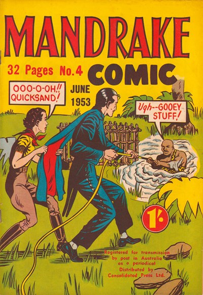 Mandrake Comic (Consolidated, 1953 series) #4 (June 1953)