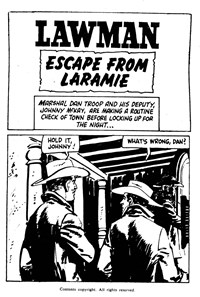 Lawman (South Pacific/Jubilee, 1974) #3453 — Escape from Laramie (page 1)