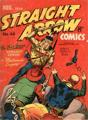 Straight Arrow Comics (Red Circle, 1950 series) #44 (August 1954)