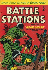 Battle Stations (Barmor, 1959? series) #5 — Rear Guard (Cover)