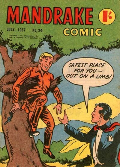 Mandrake Comic (Shakespeare Head, 1955 series) #24 (July 1957)