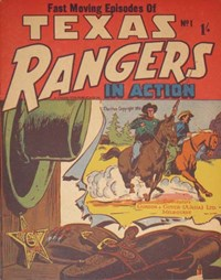 Texas Rangers in Action (New Century, 1956 series) #1 — Untitled (Cover)