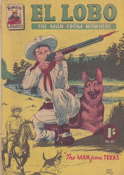 El Lobo the Man from Nowhere (Apache, 1956 series) #21 ([November 1958?])