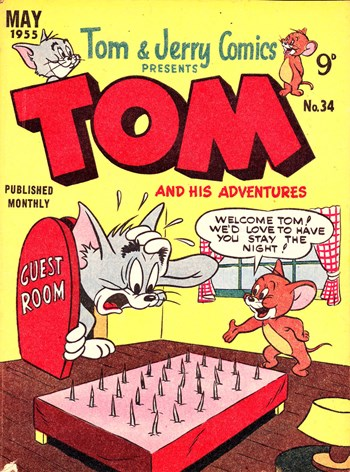 Tom & Jerry Comics Presents Tom and His Adventures (Rosnock, 1953 series) #34 (April 1955) —Tom and His Adventures