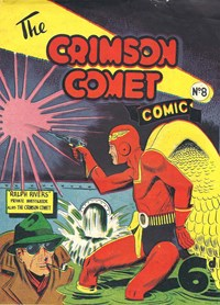 The Crimson Comet Comic (HJ Edwards, 1949 series) #8 — Untitled (Cover)